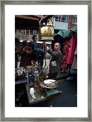 Flea Market On Portabello Road Framed Print