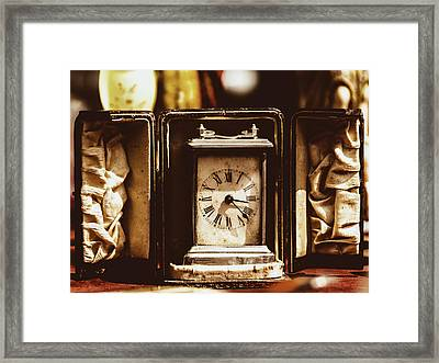Flea Market Series - Clock Framed Print by Marco Oliveira