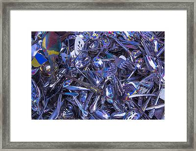 Flea Market Silver Framed Print by Garry Gay