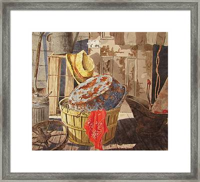 Flea Market Framed Print by Tony Caviston