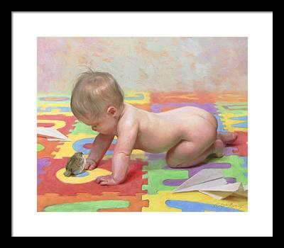 Baby Bird Framed Prints