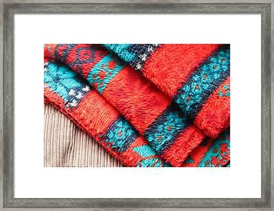 Fleece Blanket Framed Print by Tom Gowanlock