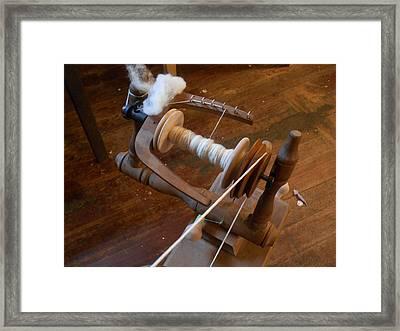 Fleece To Yarn Framed Print by Aliceann Carlton
