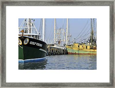 Framed Print featuring the photograph Fleet At Rest by John Collins