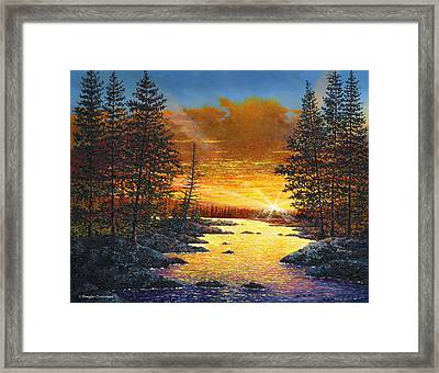 Fleeting Light Framed Print
