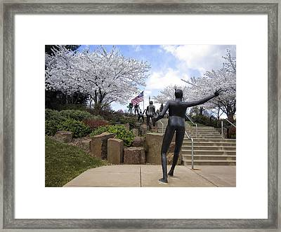 Fleeting Spring At The Arena Framed Print
