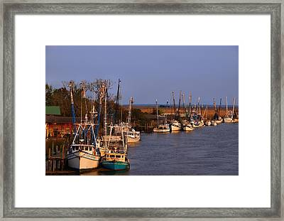 Framed Print featuring the photograph Fleet's In by Laura Ragland