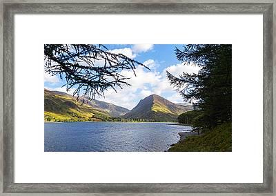 Fleetwith Pike And Buttermere From Burtness Wood Framed Print by Steven Garratt
