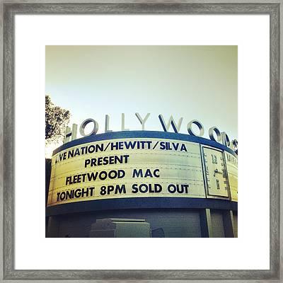 Fleetwood Bowl Framed Print