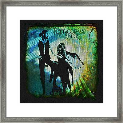 Fleetwood Mac - Cover Art Design Framed Print by Absinthe Art By Michelle LeAnn Scott