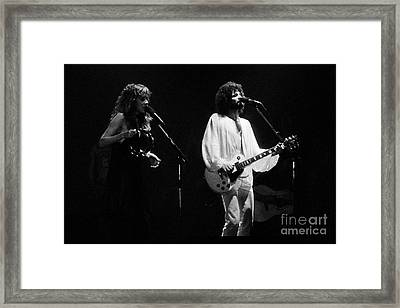 Fleetwood Mac In Amsterdam 1977 Framed Print