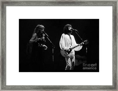 Fleetwood Mac In Amsterdam 1977 Framed Print