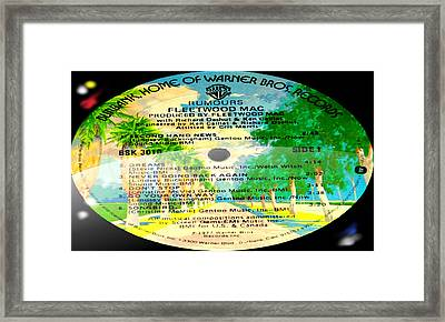 Fleetwood Mac - Rumours Side 1 Framed Print by Marcello Cicchini