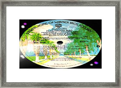 Fleetwood Mac - Rumours Side 2 Framed Print by Marcello Cicchini