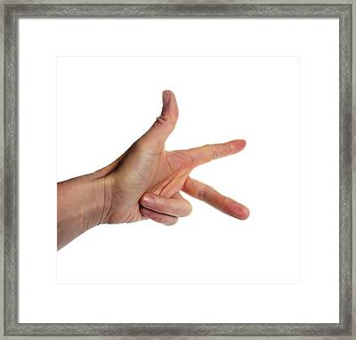 Fleming's Left-hand Rule For Motors Framed Print by Cordelia Molloy