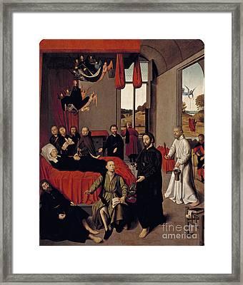 Flemish Death Of The Virgin Framed Print