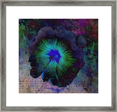 Fleur De Bleu De Cru Framed Print