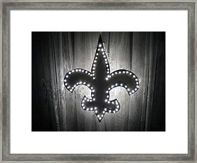 Fleur De Light Framed Print