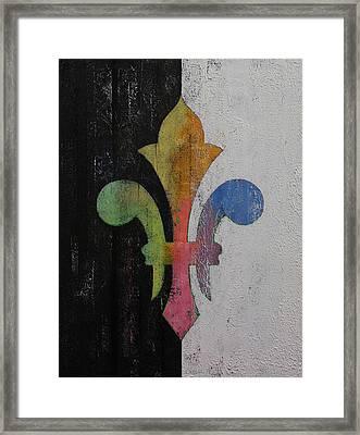 Fleur De Lis Framed Print