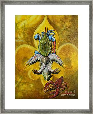 Fleur De Lis Framed Print by Theon Guillory
