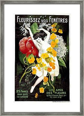 Fleurissez Vos Fenetres  Framed Print