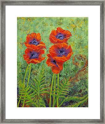 Fleurs Des Poppies Framed Print