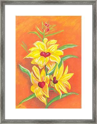 Fleurs D'amour Framed Print