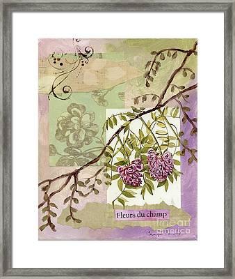 Fleurs Du Champ Framed Print by Tamyra Crossley