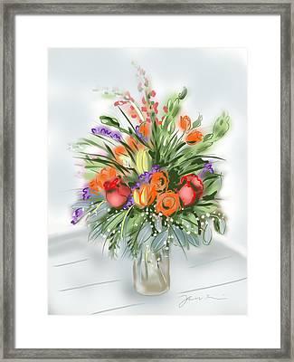 Fleurs Pour Moi Framed Print