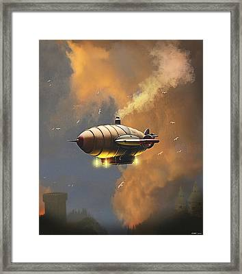 Flight At Sunset Framed Print
