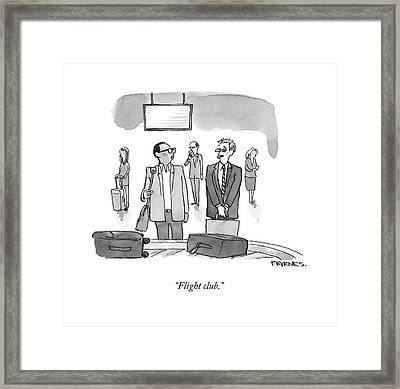 Flight Club Framed Print by Pat Byrnes