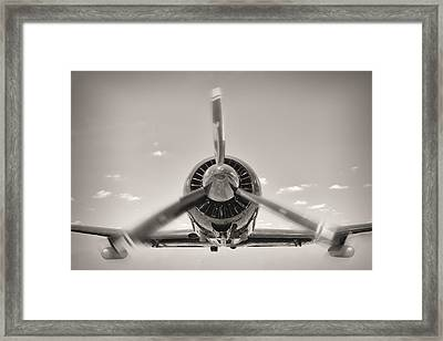 Flight In Black And White Framed Print by Rudy Umans