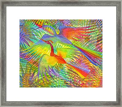 Flight Of Colour And Bliss Framed Print