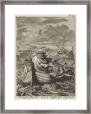 Flight Of King James II, 1688, Jan Luyken Framed Print by Jan Luyken And Jan Claesz Ten Hoorn