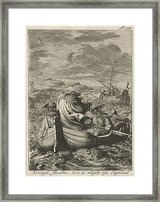 Flight Of King James II, 1688, Jan Luyken Framed Print