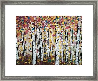 Flight Of Leaves Framed Print