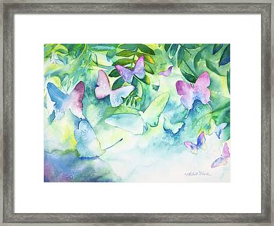 Flight Of The Butterflies Framed Print by Michelle Wiarda