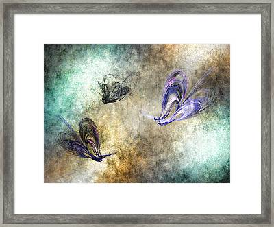 Flight Of The Butterfly Framed Print by Sharon Lisa Clarke