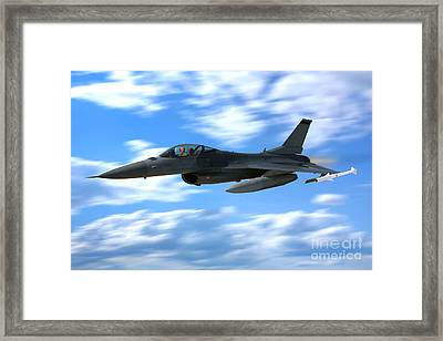 Flight Of The Falcon Framed Print
