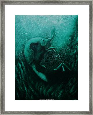 Framed Print featuring the painting Flight Of The Green Turtles by Kim Gauge