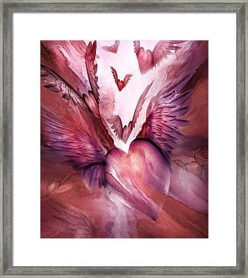 Flight Of The Heart - Rose Framed Print by Carol Cavalaris