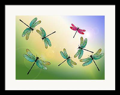 Insect Mixed Media Framed Prints
