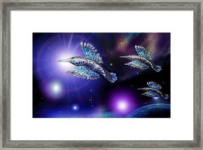 Flight Of The Silver Birds Framed Print by Hartmut Jager