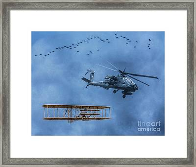 Flight Old And New Framed Print by Randy Steele