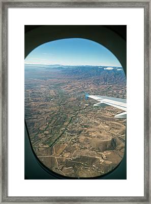 Flight Over Oaxaca Framed Print