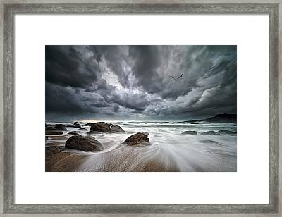 Flight Over Troubled Waters Framed Print