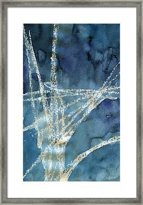 Flight Path- Abstract Painting Framed Print by Linda Woods