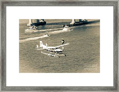 Flight- Landing In The Bay Framed Print by Rene Triay Photography