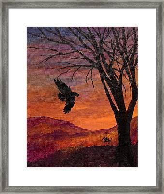 Flight Through Darkness Framed Print by Barbara Willms