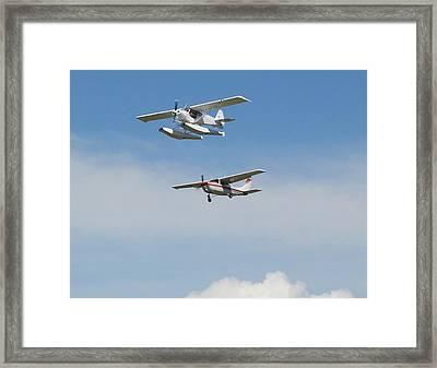 Flight Times Two Framed Print by Mavis Reid Nugent